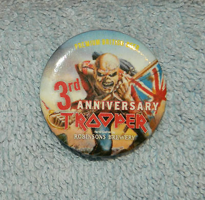 Robinsons Trooper Iron Maiden Beer 3rd Anniversary Badge *NEW*