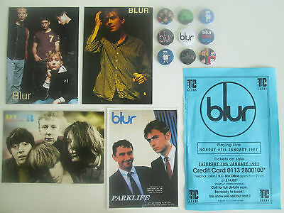 blur Badges Flyer Poster Post Cards Damon Albarn Music  Artists Groups   Blur