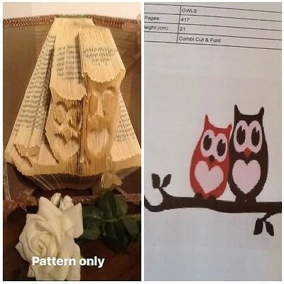 Owl Book Folding Pattern (Combi Cut And Fold Pattern Only)