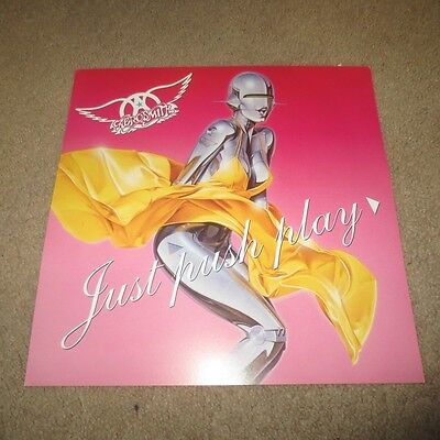 2001 Aerosmith Just Push Play Promo Promotional Music Flat Poster Rock Music