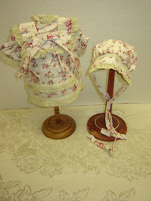 "Vintage Style DRESS AND BONNET for 14-15"" Composition  DOLL"