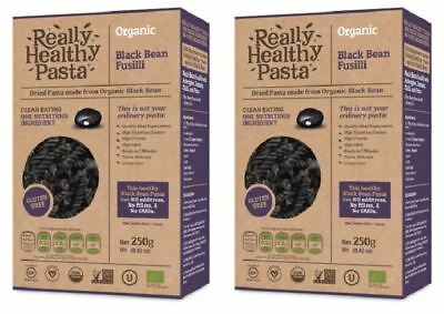 Really Healthy Pasta Black Bean Fusilli - 250g (Pack of 2)