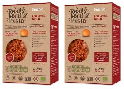 Really Healthy Pasta Red Lentil Fusilli - 250g (Pack of 2)