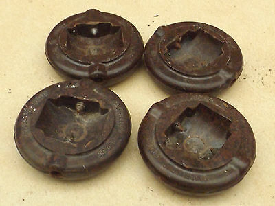 vintage old goodfellows gliders bakelite? carpet protectors furniture rests x 4