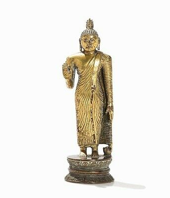 Gilt Bronze Figure of a Buddha, Sri Lanka, 18/19th Century