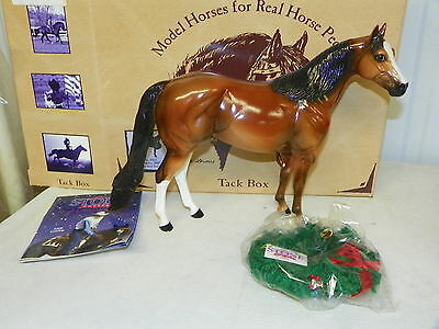 PETER STONE #0962 Christmas Holiday 2000 Glossy Bay Ideal Stock Horse MINT