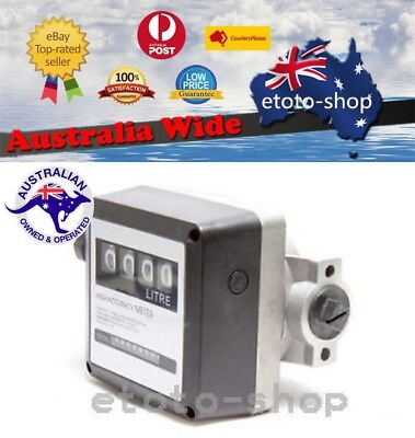 Digital Accurate Diesel Petrol Gasoline Fuel Flow Meter 4 Digit