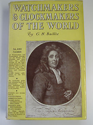 Book - Watchmakers & Clockmakers of the world by G.H.Baillie