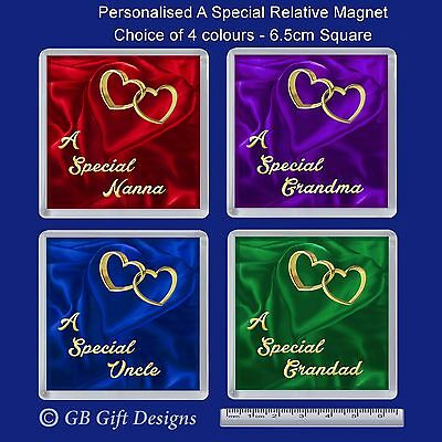 Personalised Fridge Magnet A Special Mum Nan Dad etc Birthday Fathers Day Gift