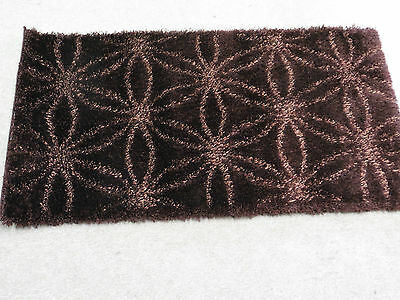 chocolate brown thick luxury soft heavy shaggy shag pile rug Finesse luster new