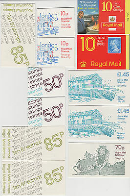 UK: GB Booklets LOT (x12) Olympics, 85p (w Code), All Complete (exc. 2nd Class)