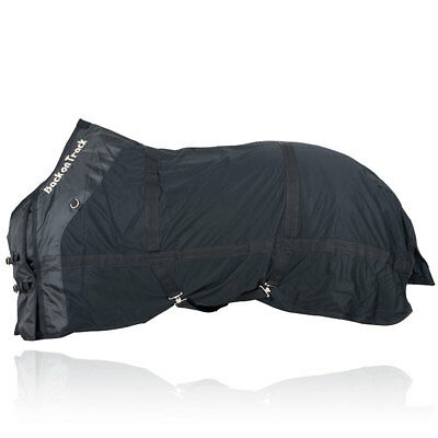 """66""""-90"""" Back On Track Thermal Warm Polyester Therapeutic Horse Mesh Sheet Black"""