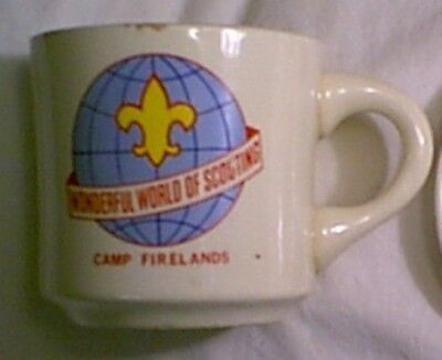 vintage  Camp Firelands cup WONDERFUL WORLD OF SCOUTING