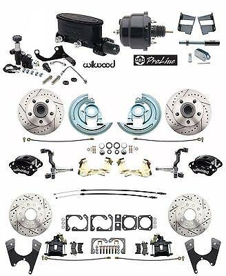 Wilwood Front & Rear Disc Brake Kit 1964-1972 GM A Body Booster Conversion Kit
