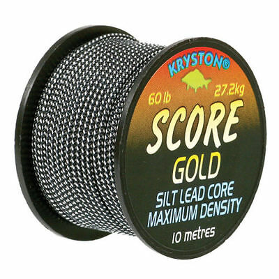 New Kryston Score Gold Silt Lead Core Mega Weight 60lb Line