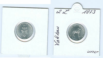 Vatican 2 Lire 1973 Pope Paul VI. almost mint state