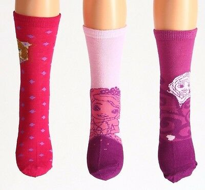 3 Pack Girls Socks Age 4-6 Years New Sofia The First Disney Uk 9-12 Eur 27-30