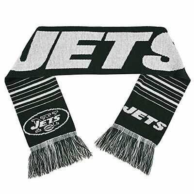b7b3e314a44 Forever Collectibles NFL New York Jets Acrylic Large Wordmark Logo Scarf