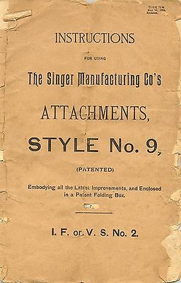 Singer Sewing Machine Attachments No. 9