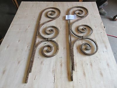 Antique Victorian Iron Gate Window Garden Fence Architectural Salvage #891