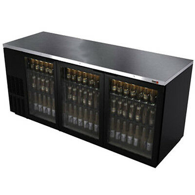 """Fagor FBB-95G 95.5"""" Refrigerated Back Bar Cabinet with 3 Glass Doors"""