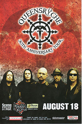 "QUEENSRYCHE ""House Of Blues"" 30th Anniv.Tour Cleve ,Ohio!Concert Tour Postcard!"