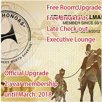 Hilton Hhonors Gold Membership- 2 Years- Until March 2018