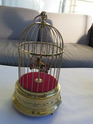 Antique Working Great German Karl Griesbaum  Birdcage KG KEN-D Music Box