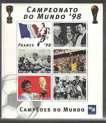 Angola Mnh 1998 World Cup Soccer Championships In France