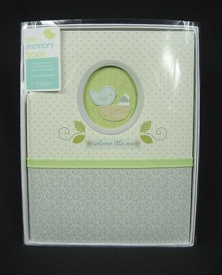 """C. R. Gibson Nest """"Welcome Little One"""" Baby Memory Record Book Keepsake Album *"""