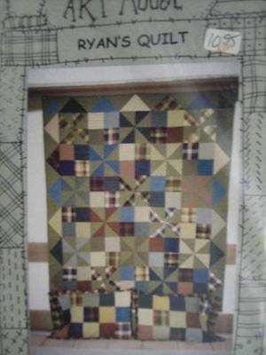 Suzanne's Art House Ryan's Quilt Sewing Pattern #104-66x78 Inches