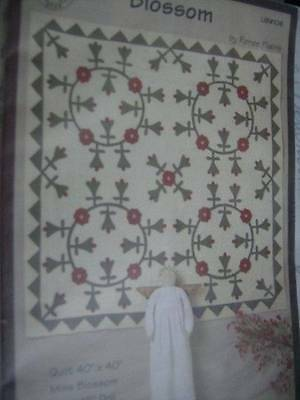 """Liberty Star Blossom Quilt & Miss Blossom 18"""" Doll Sewing Pattern"""