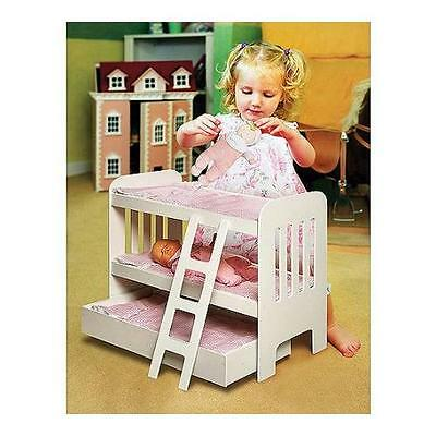 "Badger Basket Doll Bunk Bed with Ladder and Trundle, Fits Most 18"" Dolls"