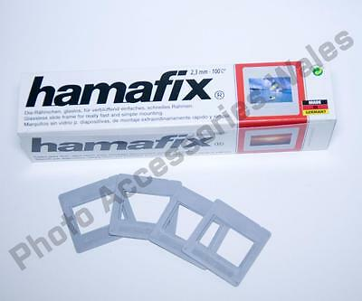 "Hama 35Mm Slide Mounts Plastic 2""X2"" Mount For 35Mm Slides Box 100 5X5Cm 1030"