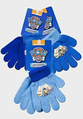 Official Paw Patrol Childrens Knitted Gloves Fits 3-8 Years