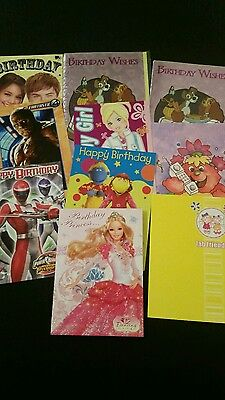 Job Lot Of 10 Quality Assorted  Open Childrens Birthday Cards