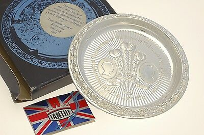 Silver plated Commemorative Coaster For Prince Charles and Diana