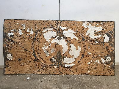 "1 - 24"" x 12"" Antique Ceiling Tin Tile Vintage Reclaimed Salvage Re Purpose Art"