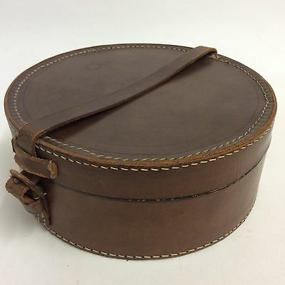 vintage leather collar box / case