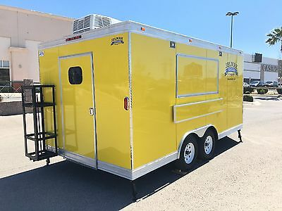 New Food Trailer Catering Concession Bbq 16' X 8.5' Fully Equipped
