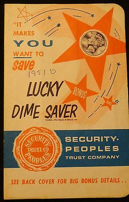 VINTAGE Lucky Bonus Dime Saver Booklet Security People Trust Co - Erie, PA 1941?
