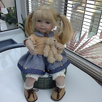 Beautiful Alberon Limited Edition Porcelain Doll