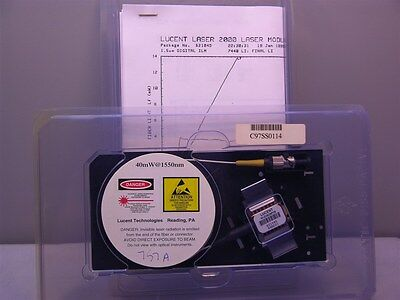 1 Lucent M D2525P25 Wavelength-Selected Isolated DFB Laser Module w/PMF 1557.36