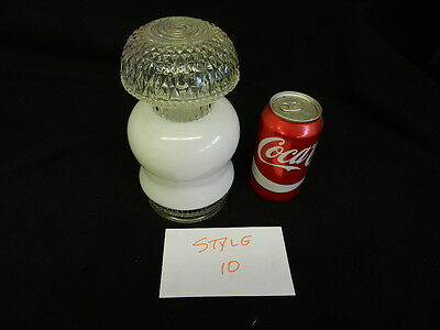 Vintage Glass Globe Light Fixture White Shade Cover Bathroom (style 10)