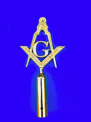 Lodge Masters Top Rod for Masonic Ceremonies Golden Finished