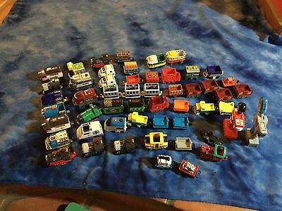Big Lot Of 52 Pieces Of Geotrax Engines, Cars, Powered/unpowered 2 Controllers