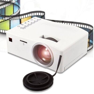 Mini Portable Multimedia LED Projector Home Cinema Theater AV USB TF HDMI 1080P