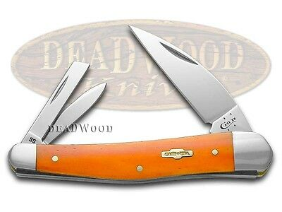 CASE XX Smooth Persimmon Orange Bone Seahorse Whittler Stainless Pocket Knife