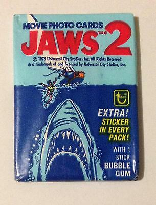 Jaws 2 Trading Card Wax Pack Vintage 1978 Topps