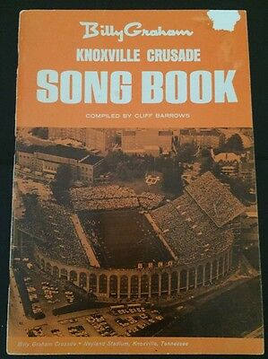 1969 BILLY GRAHAM Knoxville Tennessee Crusade Song Book Music Religion